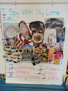 Eye Spy Class Activitiy - use with Five senses unit ~ Chalk Talk: A Kindergarten Blog