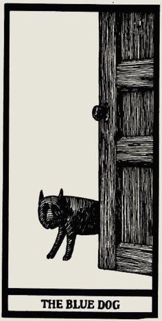 Edward Gorey's 'anxious, irritable' tarot card set is predictably perfect Edward Gorey, Illustrations, Illustration Art, Le Tarot, Dangerous Minds, Cartomancy, Garage Art, Blue Dog, Oracle Cards