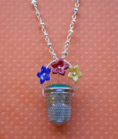 Get Creative with #Thimbles! Blog Post #Enameled #Flowers