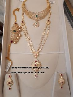 Sri Mahalaxmi Gems and Jewellers. Contact :092468 89611. Email :mlgems2004@yahoo.com Gold Earrings Designs, Necklace Designs, Indian Bridal Jewelry Sets, Indian Gold Jewellery, Temple Jewellery, Bridal Jewellery, Gold Jewelry Simple, Diamond Jewellery, India Jewelry