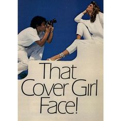 Covergirl Clean Make-Up 1983 - MyFDB ❤ liked on Polyvore featuring ad campaign