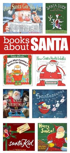 Books list of books about Santa from No Time for Flash Cards. Must read Christmas books for kids.