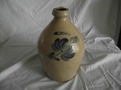 $328.05   Moyer, William Harrisburg, PA One-1 Gallon Stoneware Jug - Cobalt Blue Flower