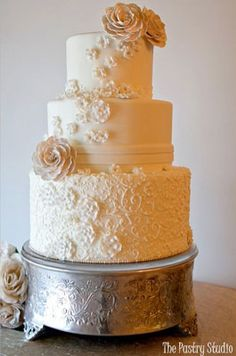 pretty lace appliques from The Pastry Studio