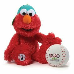 Momies jazzed  about this ...... Click Here >  shopping-for-toys.com     Gund Sesame Street Baseball Player Elmo Animated Stuffed Toy Plush