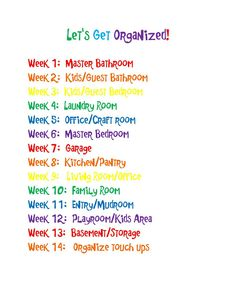 Getting Organized ~ A Challenge