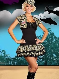 Sexy Army Girl Costume $11.25