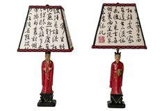 Chinoiserie Chic @madcapcottage Chinese Man & Woman Table Lamps only on @onekingslane onekingslane.com/shop/madcapcottage #madcapcottage #onekingslane #vintage #interiordesign