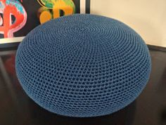 Crochet Pattern DIY Tutorial Large Crochet Pouf Poof by isWoolish