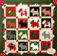 scotty dog quilt kits | ... Scottie Dogs Quilt Kit | Product: Christmas Scottie Dogs Quilt Kit