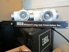 ORIGINAL VINTAGE RLA Z-ARRAYS in WHITE Loaded with the original JBL 075 8ohm BULLET TWEETERS! ALL WORKING LIKE NEW!! (1 PAIR) THESE ARE ONE OF THE LAST SETS OF Z-ARRAYS THAT WERE MADE BEFORE RICHARD Richard Long, Horn Speakers, Audio Speakers, Dj Booth, Loudspeaker, Home Theater, The Originals, Horns, Bbc
