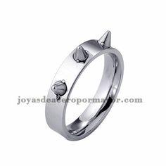anillo de plata estilo punk en acero inoxidable -SSRGG971699