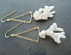 Natural coral earrings