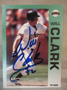 1992 Fleer #631 Will Clark (TTM)