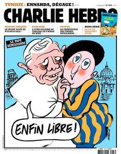 unes celebres charlie hebdo pape francois
