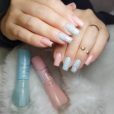 Bright Pink Nails, Pastel Nails, Acrylic Nails, Elegant Nail Art, Pretty Nail Art, Wedding Nails Design, Manicure E Pedicure, Nail Art Hacks, Simple Nails