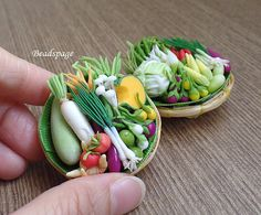 Dollhouse Miniature Vegetable Fresh Produces....inspiration or buy