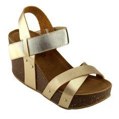 Refresh Women's Faux Platform Wedge Sandals