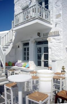 barbarossa House By The Sea, Boutique Hotels, Beach Houses, Store Fronts, Building A House, Greece, Shops, Community, Restaurant