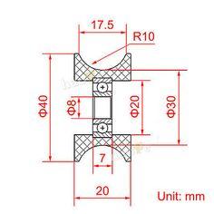 4 Wheels for DIY Camera Dolly Rig Slider Track Table Skater U Groove Bearings 6933996115974