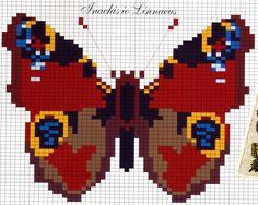 бабочки Butterfly Stitches, Butterfly Cross Stitch, Mini Cross Stitch, Cross Stitch Flowers, Perler Patterns, Loom Patterns, Modern Cross Stitch Patterns, Cross Stitch Designs, Cross Stitching