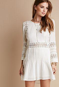 Raga Floral Crochet-Paneled Dress | Forever 21 - 2000052457