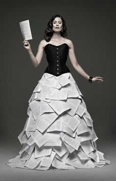 Dress made out of books.