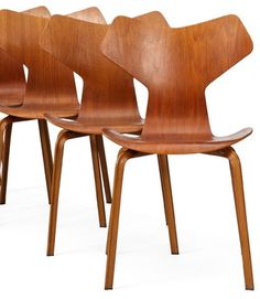 Set of 4 Arne Jacobsen Grand Prix Chairs modern-furniture