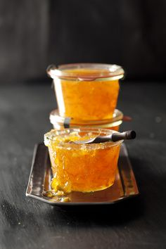 Mandarin orange prosecco preserves  Recipe and Styling by Libbie Summers  Photography by Chia Chong