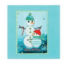 "Snowman ""Happy Holiday"" Christmas Card"