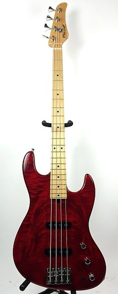 Mike Lull M4 Bass - 1998 Transparent Red | @Reverb