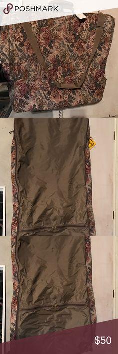 NWT Garment Bag Brand new garment travel bag. Never used. Floral design. Bags Travel Bags
