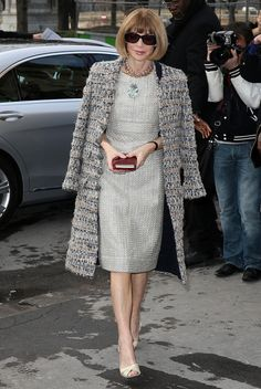 Anna Wintour attends the Chanel show.