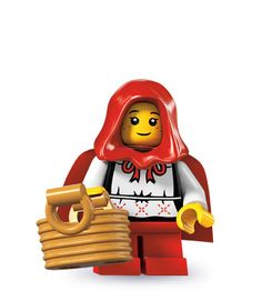 Little Red Riding Hood minifigure.  I felt my way thru all the packs to her. <3
