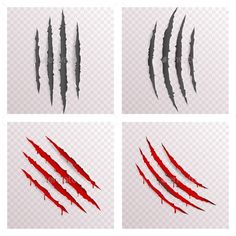 Buy Animal Monster Claws Bleeding Scratches by Meilun on GraphicRiver. Animal Monster Claws Blood Scratches Torn Bleeding Material Template Set Transparent Background Mock Up Design Vector. Scratch Tattoo, Tatuaje Trash Polka, Ripped Skin Tattoo, Mark Tattoo, Iphone Background Images, Creative Sketches, Paint Markers, Pencil Illustration, Monster