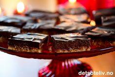Sarah Bernhardt i langpanne uten nøtter (med Ritz-kjeks) Desserts, Food, Tailgate Desserts, Deserts, Essen, Postres, Meals, Dessert, Yemek
