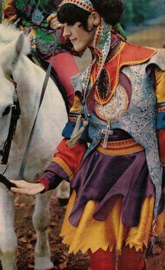 Colorful jester costume!