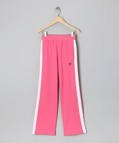Take a look at this Rose & White Stripe Tennis Pants - Girls by FILA on #zulily today!