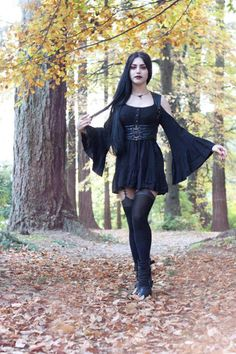 Cool Goth from the sleeves to the garter. you got it all.