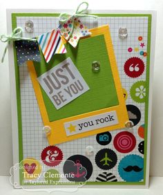 Just be You Card by Tracy Clemente #Encouragement, #Cardmaking, #KIKit