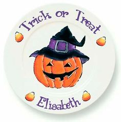 Jack-O-Lantern Personalized Holiday Dinner Plate