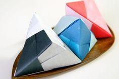 Handmade Origami Tetrahedra Decorations by TokiStudio on Etsy