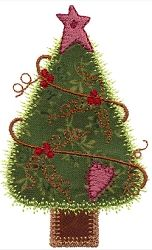 Accuquilt Go! Primitive Trees Set, 9 Designs - 4x4 | What's New | Machine Embroidery Designs | SWAKembroidery.com VStitchDesigns