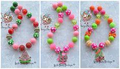 S Hopkins Jewelry Set | Shopkins Bubblegum Necklace Shopkins Necklace SHopkins Chunky necklace ...