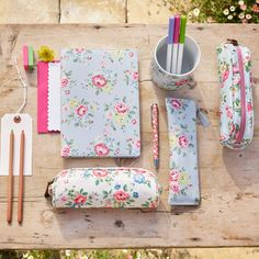 Latimer Rose Leather Pencilcase, Cath Kidston