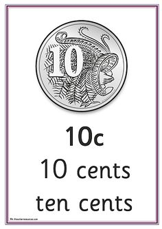 Australian money posters - teaching resources - includes a poster for each coin and note, and coin and note image sheets for printing. Teaching Posters, Teaching Math, Money Activities, Teacher Resources, Year 1 Maths, Learning Money, Australian Money, Special Education Math, Money Worksheets
