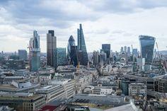Cityscape of London.