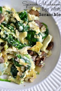 clean eating breakfast choice. This egg white scramble is packed ...