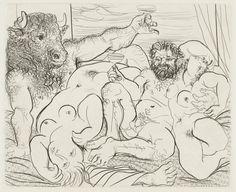 """Pablo Picasso (1881-1973). Minotauro y bacantes """"Suite Vollard"""", 1939"""