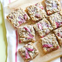 Rhubarb Strawberry Crumb Bars for Spring Fling